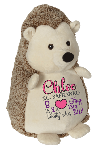 Hedley Hedgehog (Personalized Birth Stat Plush)