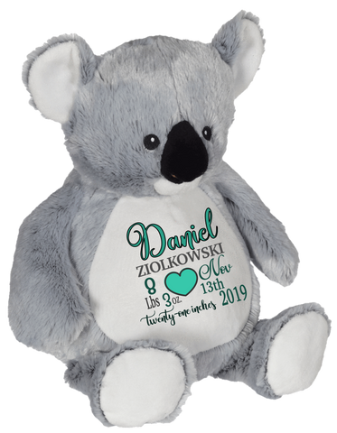 Kory Koala (Personalized Birth Stat Plush)