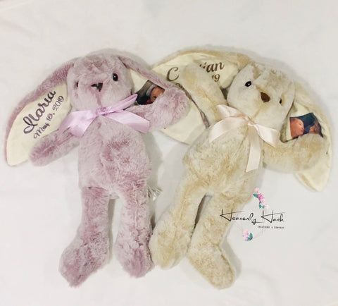 Easter Plush Bunnies (can be personalized)