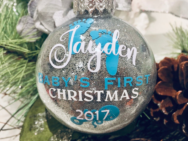 Glitter Ornament - First Christmas