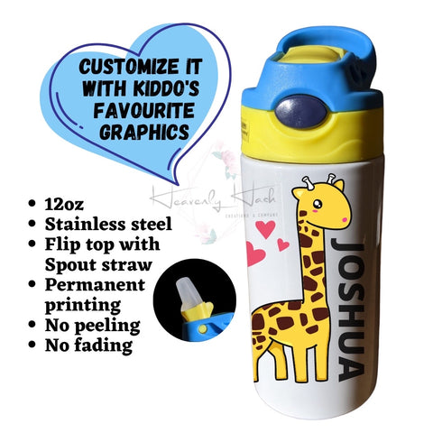 Custom 12oz Water Bottles for children