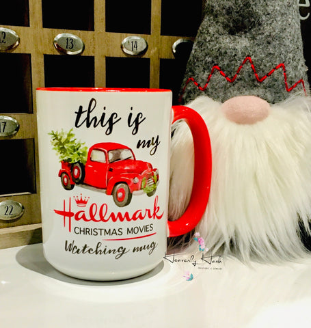Hallmark X'mas Movie Mug - 15 Oz