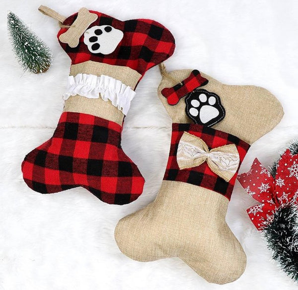 Buffalo Plaid Bone Stocking