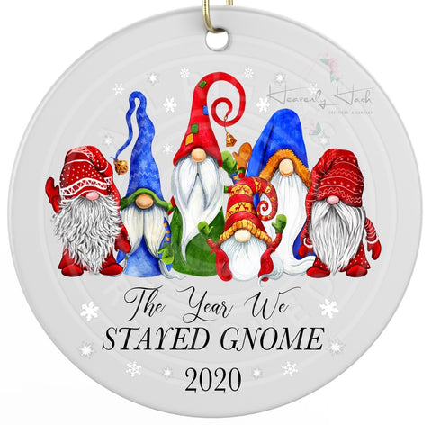 The year we stayed Gnome - Round Ornament