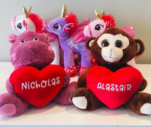 Personalized Valentine's Day Plush - CLEARANCE!!!