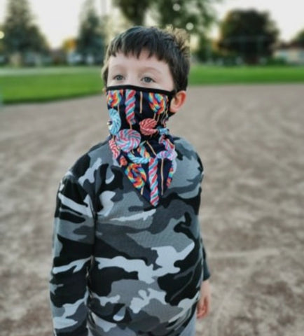 Bandanna Mask with Ear Loops (Kids)
