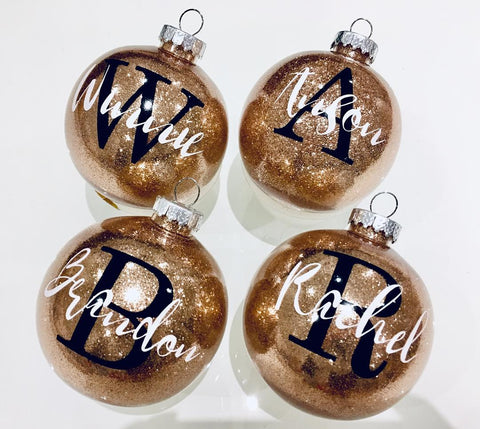 Glitter Ornament - Monogram Package (Buy More, Save More!)