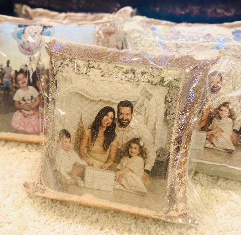 Photo Sequin Pillow - Personalize it!