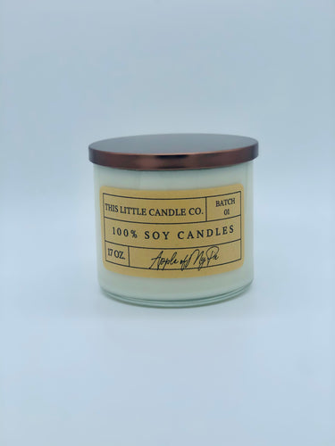 17Oz. 3-Wick Kraft Label