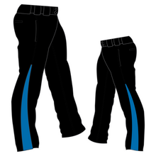 Load image into Gallery viewer, PA-1010 Black Softball Pants with Front Pockets & Panels