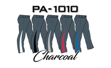 Load image into Gallery viewer, PA-1010 Charcoal Softball Pants with Front Pockets & Panels