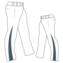 Load image into Gallery viewer, PA-1010 White Softball Pants with Front Pockets & Panels