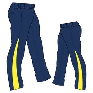 PA-1010 Navy Softball Pants with Front Pockets & Panels