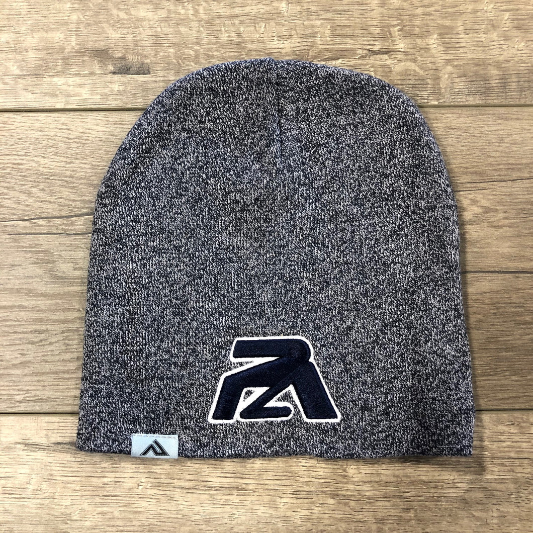 Navy PA Logo Navy Loose Fit Heather Knit Beanie