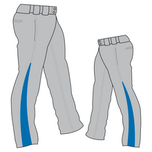 Load image into Gallery viewer, PA-1010 Grey Softball Pants with Front Pockets & Panels
