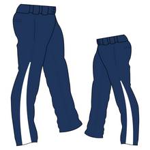 Load image into Gallery viewer, PA-1010 Navy Softball Pants with Front Pockets & Panels