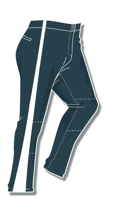 PA-4010 Charcoal Women Softball Pants with Panel