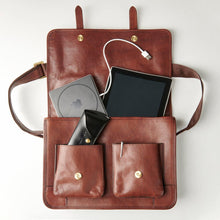 Load image into Gallery viewer, Brown Leather Messenger Bag - Misaro Australia