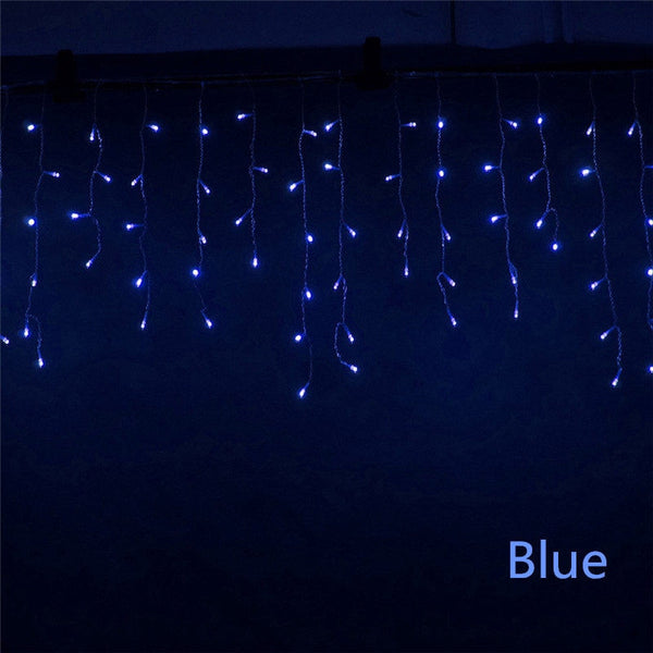 LED Curtain Icicle String Light 220V 5m 96Leds Christmas Garland