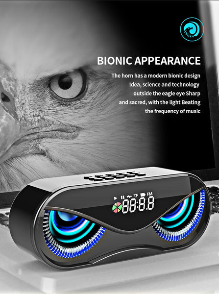 Owl Design  LED Flash Wireless Bluetooth Speaker