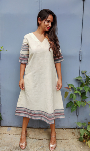 Malkha A Line Selvedge Dress