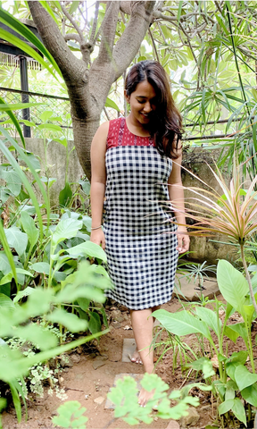 Nysa Kotpad Dress with Ikat yoke