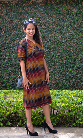 Anika Ikat A Line Shift Dress