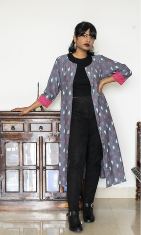 Anoushka Ikat Shirt Dress