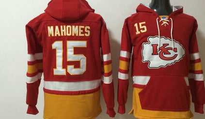 kansas City Chiefs Patrick Mahomes hockey Style hooded sweatshirt