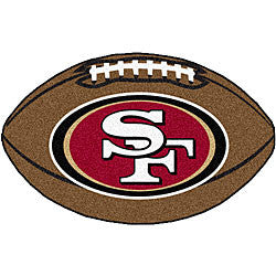 San Fransisco 49ers football shaped mat - Sports Nut Emporium
