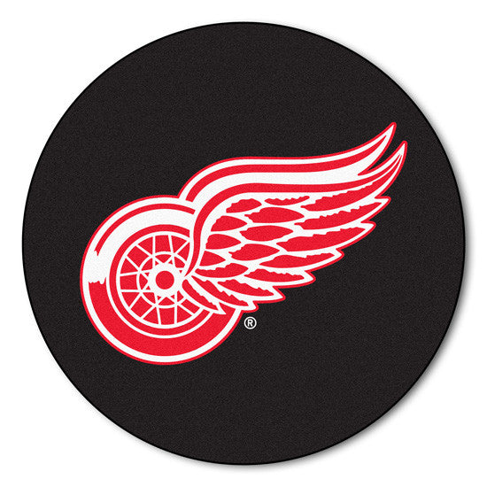 Detroit Red Wings puck shaped mat - Sports Nut Emporium