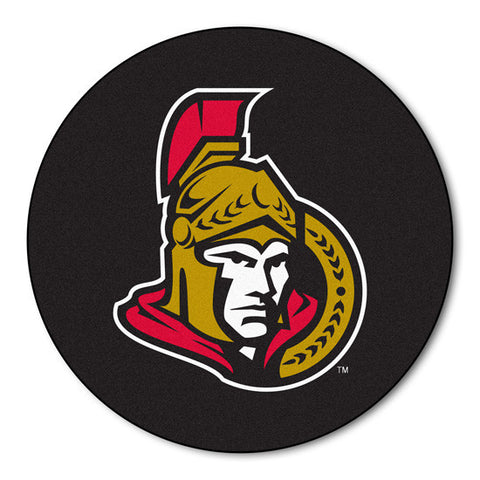 Ottawa Senators puck shaped floor mat - Sports Nut Emporium