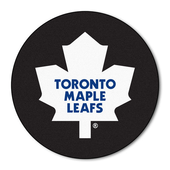 Toronto Maple Leafs puck shaped floor mat - Sports Nut Emporium