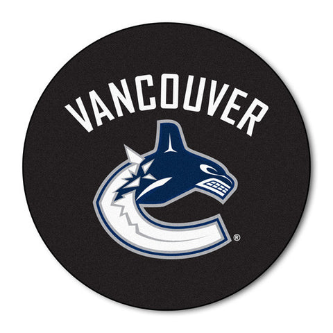 Vancouver Canucks puck shaped floor mat - Sports Nut Emporium