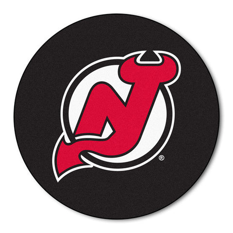 New Jersey Devils puck shaped floor mat - Sports Nut Emporium