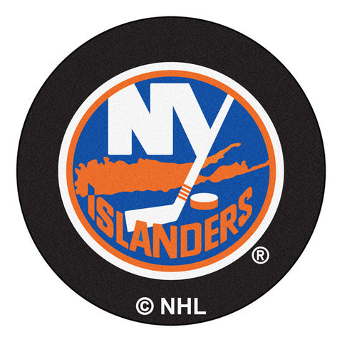 New York Islanders puck shaped floor mat - Sports Nut Emporium