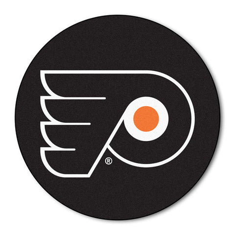 Philadelphia Flyers puck shaped floor mat - Sports Nut Emporium