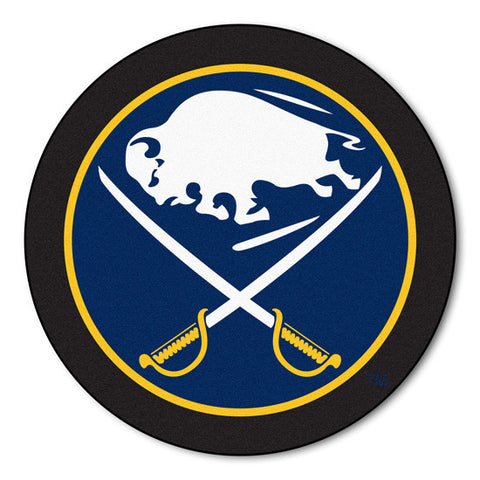 Buffalo Sabres puck shaped mat - Sports Nut Emporium