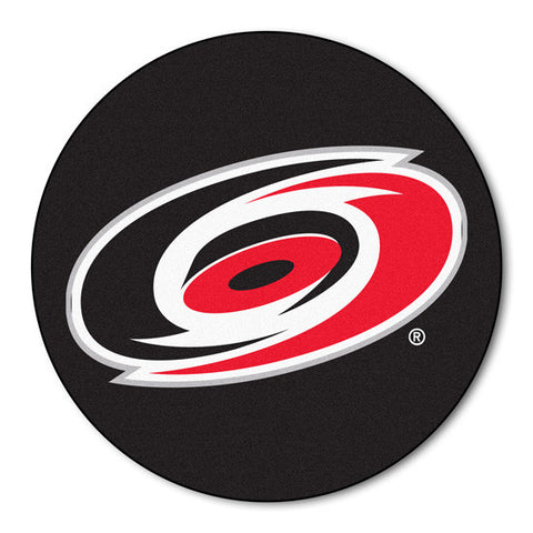 Carolina Hurricanes puck shaped floor mat - Sports Nut Emporium