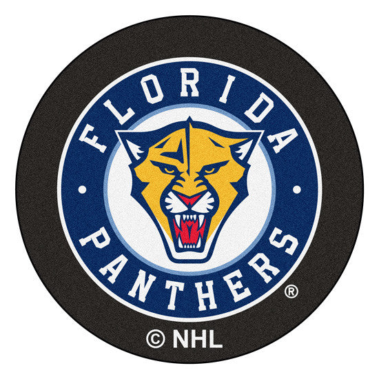 Florida Panthers puck shaped floor mat - Sports Nut Emporium