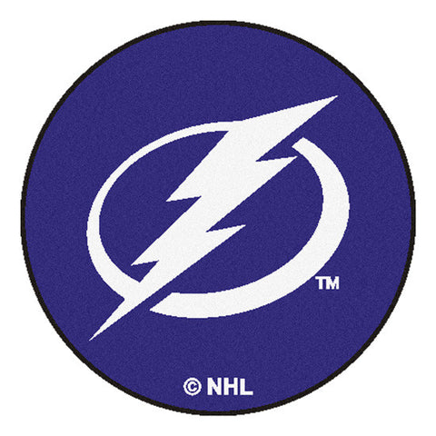 Tampa Bay Lightning puck shaped floor mat - Sports Nut Emporium
