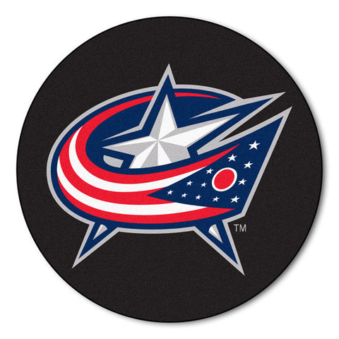 Columbus Blue jackets puck shaped floor mat - Sports Nut Emporium