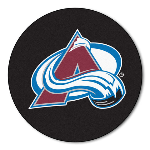 Colorado Avalanche puck shaped floor mat - Sports Nut Emporium