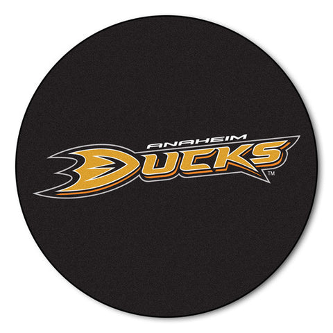 Anaheim Ducks puck shaped floor mat - Sports Nut Emporium
