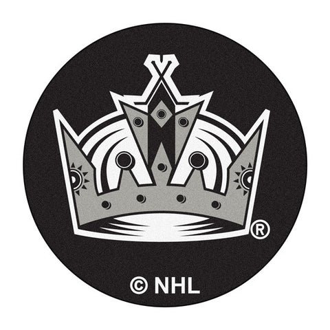 Los Angeles kings puck shaped floor mat - Sports Nut Emporium