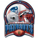 New  England Patriots High Definition Plaque Style  wall Clock - Sports Nut Emporium