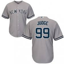 Aaron Judge New York Yankees Gray Men's Majestic  Road Jersey - Sports Nut Emporium