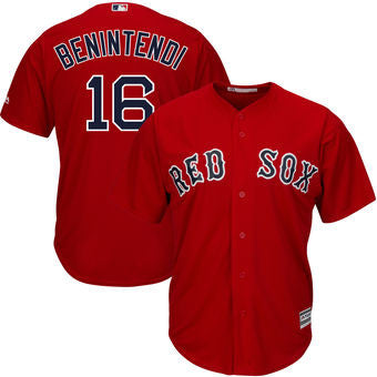 Andrew Benintendi Boston Red Sox Mens Scarlet Majestic jersey - Sports Nut Emporium