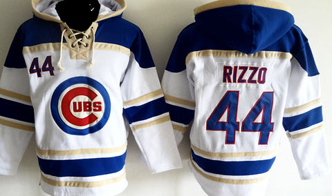 Anthony Rizzo Chicago Cubs white pullover hoodie