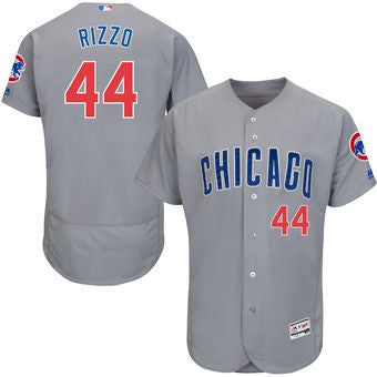 Anthony Rizzo Chicago Cubs Gray men's Majestic  jersey - Sports Nut Emporium